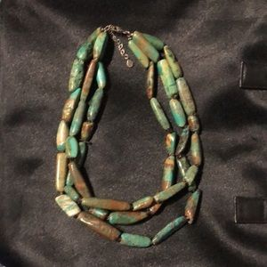 BARSE Genuine Turquoise Sterling Silver Necklace